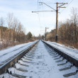 Rails of the railway in the winter — Stock Photo #1085385