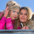 Stock Photo: Two blonde girlfriend
