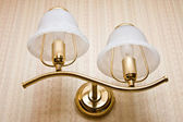 The wall fixture with two lamps — Stock Photo