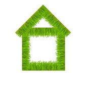 Concept of the house from grass — Stock Photo