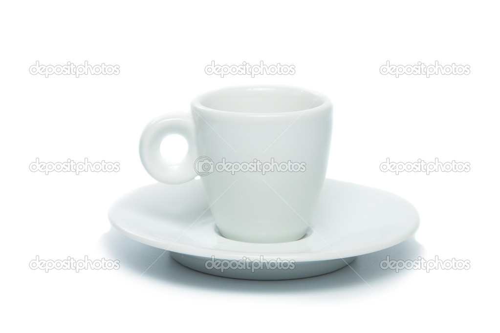 White cup on white background — Stock Photo #1099084