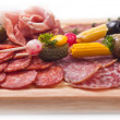 Stock Photo: Board at restaurant with meat