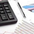 Stock Photo: Calculating finances