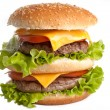 Big fresh delicious double hamburger — Stock Photo #2049709
