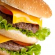 Big fresh delicious double hamburger — Stock Photo #2049867