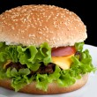 Stock Photo: Tasty hamburger