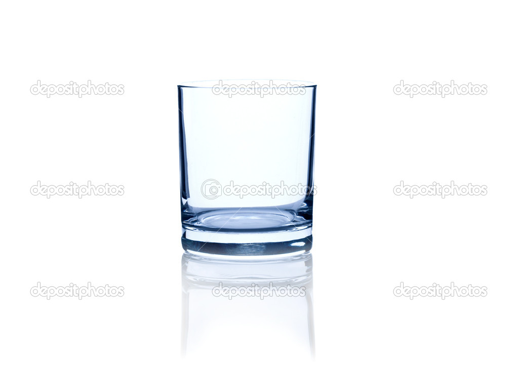 Empty glass isolated on a white — Stock Photo #2267239