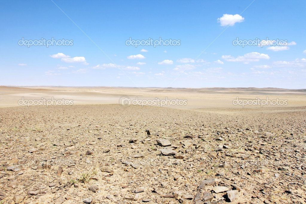 Mongolian landscape in the Gobi desert — Stock Photo #1017587