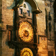 Old Prague astronomical clock — Stock Photo