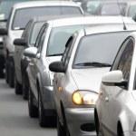 trafik sıkışıklığı. dikey — Stok fotoğraf