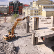 Urban renewal in the city centre — Stock Photo
