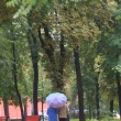 Walk in autumn park — Stock Photo