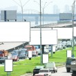 Billboards on Highway — Stock Photo