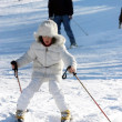 Ski learning — Stockfoto