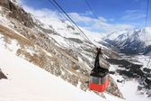 Gondola at Elbrus mountain. Russian Fede — Stock Photo