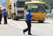 Policeman on the road — Foto de Stock