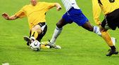 Fotbollsmatch 3 — Stockfoto