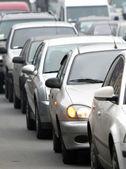 Traffic jam. vertical — Stock Photo