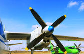 Aircraft propeller — Stock Photo