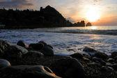 Sunrise on the beach — Stock Photo