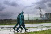 Walking near the Chornobyl Nuclea — Stock Photo