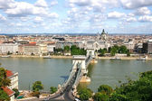View of Budapest over the River Danube from Castle Hill. Hungary — Stock Photo