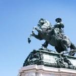 Statue of emperor Franz Joseph I — Stock Photo
