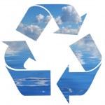 Recycling symbol — Stock Photo