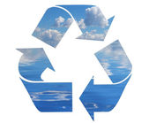 Recycling-symbol — Stockfoto