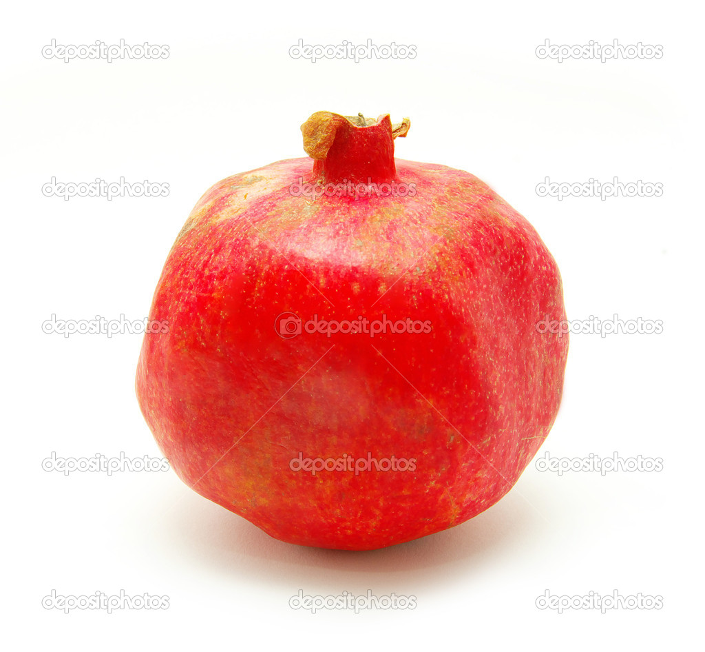 Pomegranate fruit isolated on white background — Stock Photo #1014293