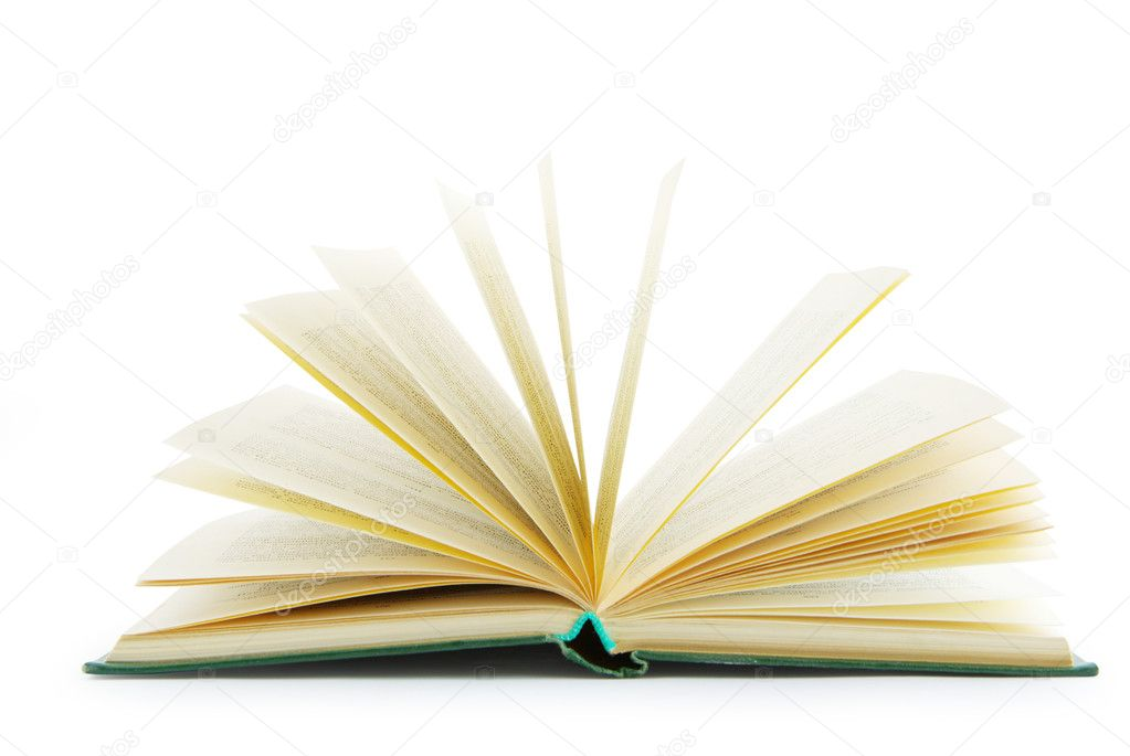 Open book isolated on a white background  Stock Photo #1014299