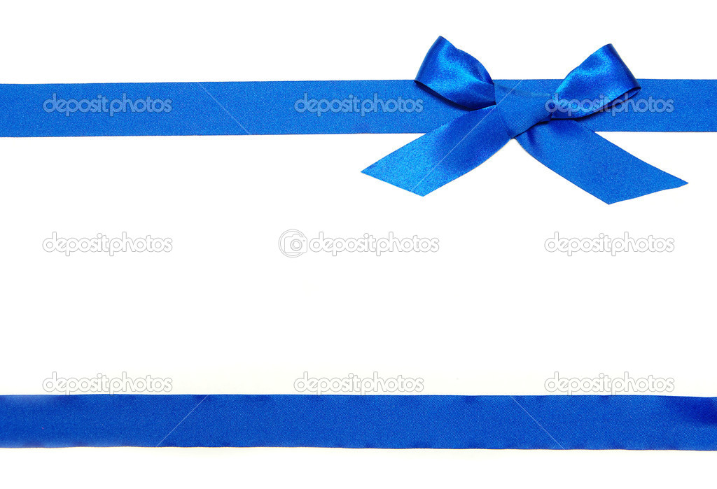Blue Ribbons Background Blue Ribbon And Bow on White