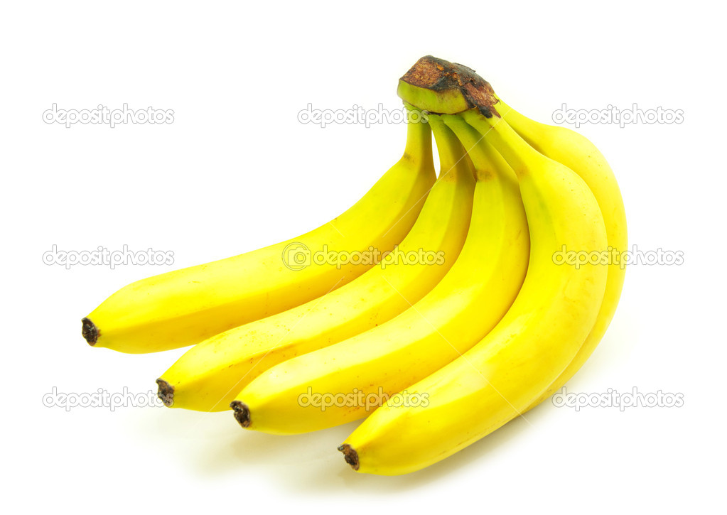 Banana fruits isolated on white background — Stock Photo #1016138