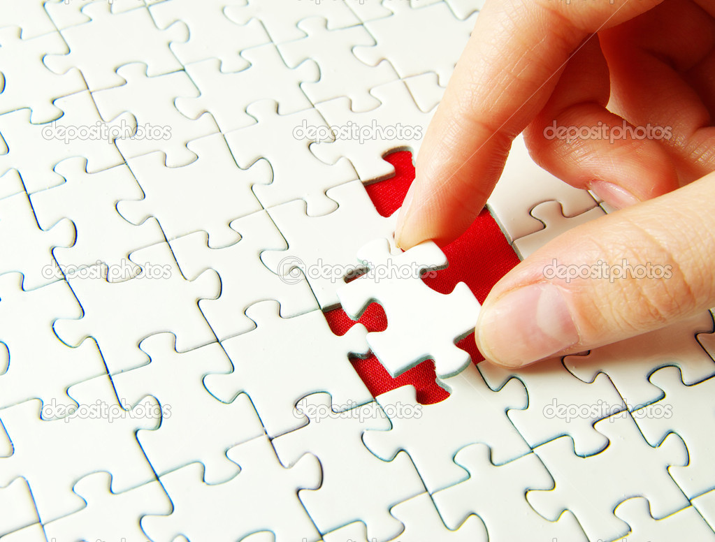 Hands holding a puzzle piece . business concepts — Stock Photo #1016206
