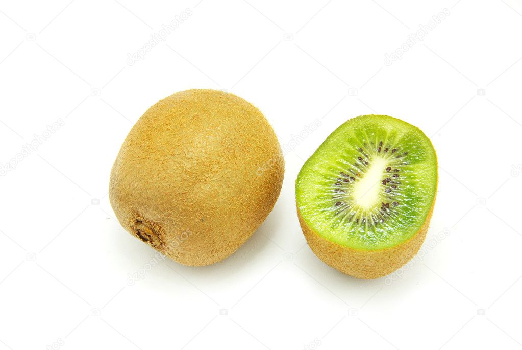 Pieces of kiwi isolated on white background — Stock Photo #1016355