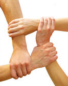 Linked hands — Stockfoto