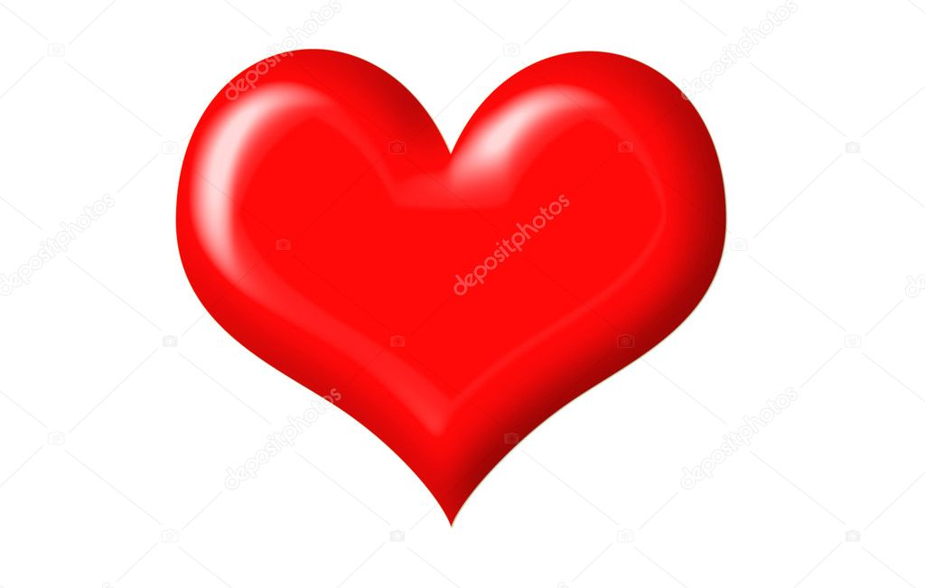 Vector heart isolated on a white background  Stock Photo #1022238