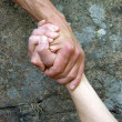 Stock Photo: Hand in hand