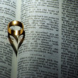 Ring on Bible — Stock Photo #1623181