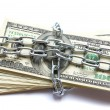 Money in chain — Stock Photo