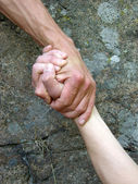 Hand in een hand — Stockfoto