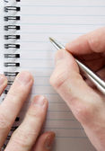 Notebook in pen — Stock Photo