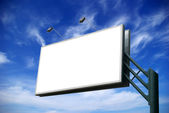 Advertising billboard — Stock Photo