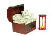 Box with money — Stock Photo