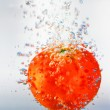 Royalty-Free Stock Photo: Tomato in water