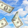 Royalty-Free Stock Photo: Money and sky