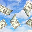 Money and sky — Stockfoto