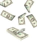 大堆钱 — 图库照片