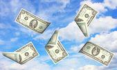 Money and sky — Stock Photo