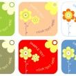 Set of blank labels — Stock Vector